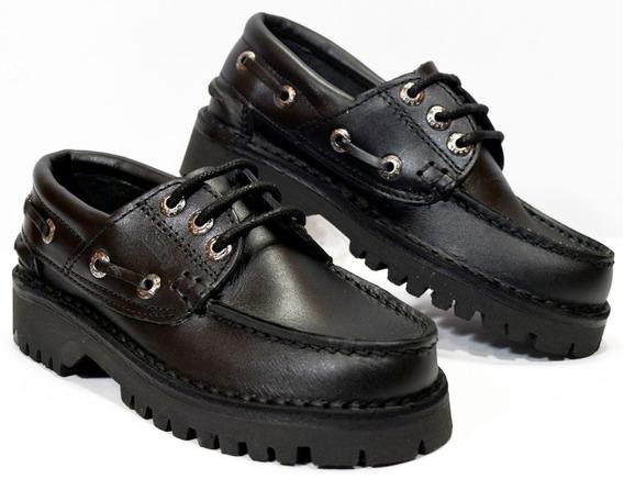 Zapato Colegial Cuero Gaby N° 39 Al 44 Mo. 245 Calzados Susy