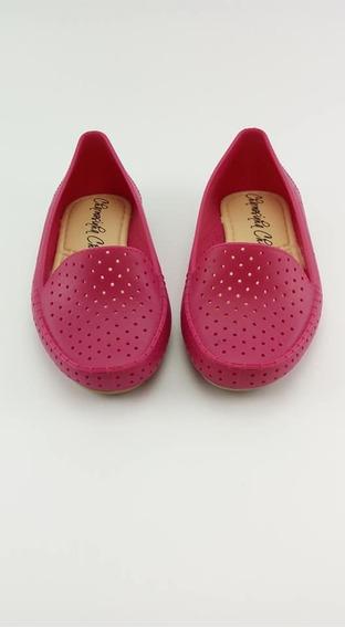 Sapato Bebe Menina Mocassim Vazado Charmosinha Baby.