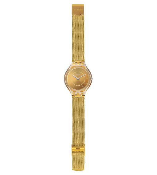 Relógio Swatch Skinca Svok100m Metal Dourado Original