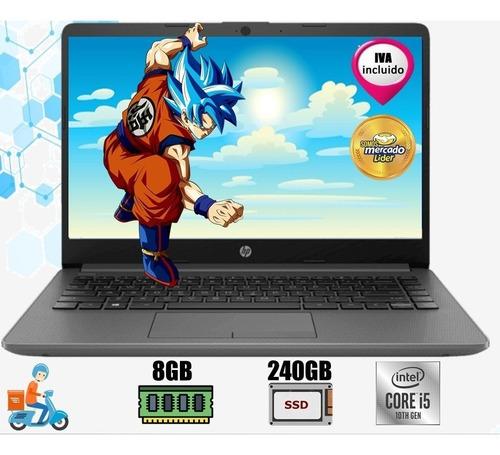 Imagen 1 de 5 de Laptop Portátil Hp Core I5 10ma 8gb Ssd 240gb Led 14, I3/i7