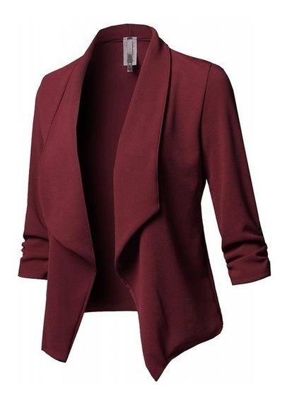 Znu Chaqueta Chamarra Saco Blazer Abrigo Dama Casual Moda