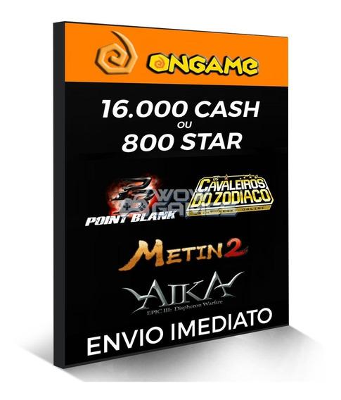 Point Blank Cartão 16.000 Cash 16k Pb - Ongame Aika Metin2