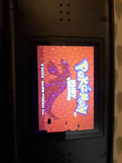 Cartucho Nintendo Gameboy Advanced Pokémon Ruby Version