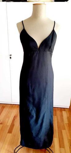 Vestido De Noche Marca Sail, Talle M, Color Negro.