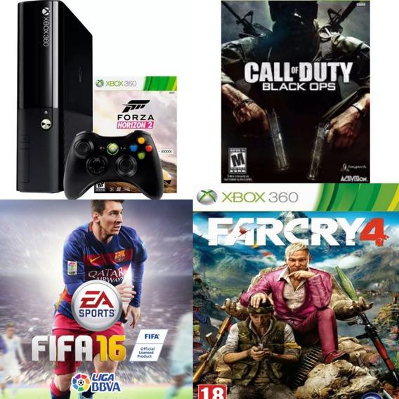 Xbox 360 500 Gb + 1 Controle + 3 Jogos