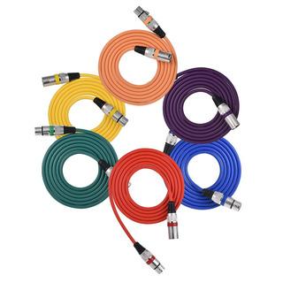 Ammoon Xlr Cable De 2m De 6 Piezas