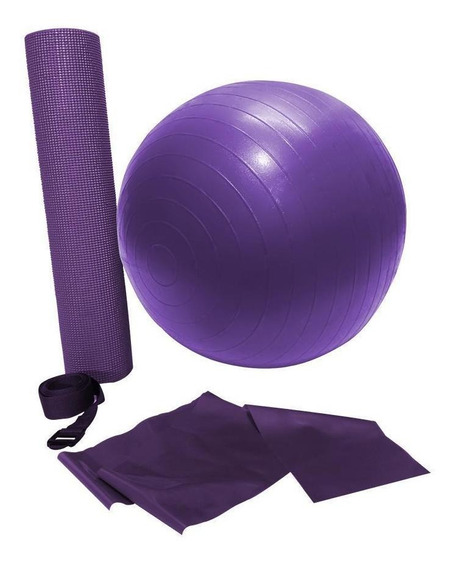Tapete Para Yoga Bola Suiça Elastico Exercicios Pilates