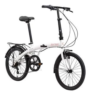 Bicicleta Dobrável Portátil Durban Eco+ Shimano Branca