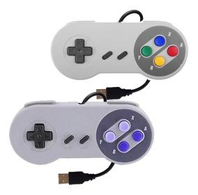 2 Controle Snes Usb Super Nintendo P/ Raspberry Pc Notebook