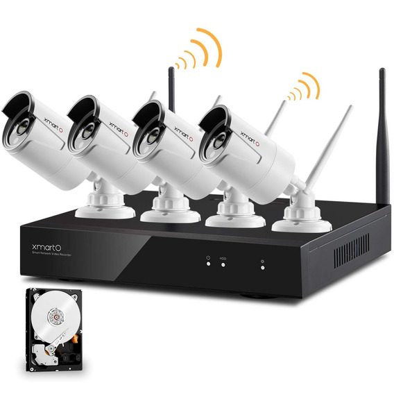 [audio Compatible] Xmarto Wireless Security Camera System 4c