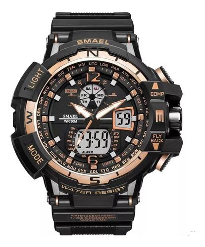 Relógio Militar Smael Analógico Shock Modelo 1376 Original