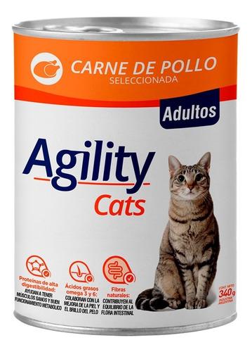 Imagen 1 de 6 de Agility Cats En Lata Sabor Pollo X 340 Gr