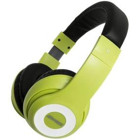 Fone De Ouvido Headset Life Series Maxprint Verde E Preto