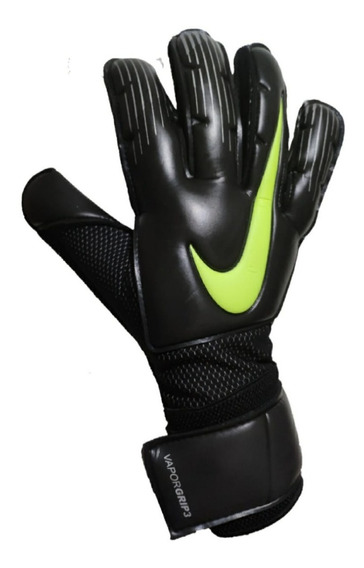 Luvas De Goleiro Nova Nike Vapor Grip3 Tamanho 9 Preto/amare