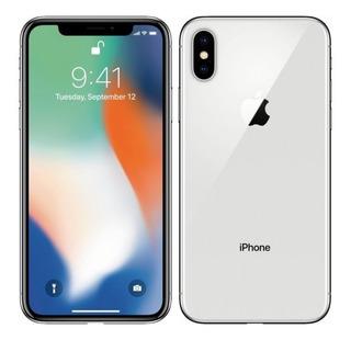 iPhone X 256 Gb Prateado C/ Caixa E Acessórios