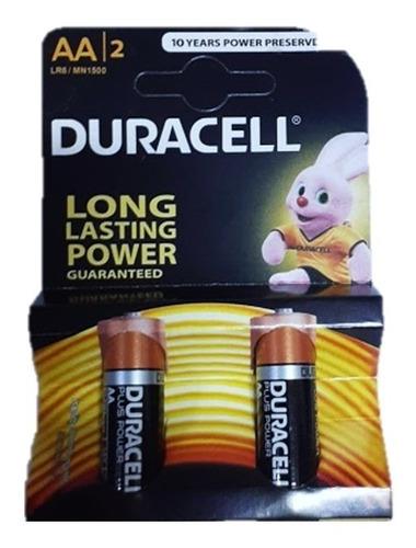 Par De Bateria Pila Duracell Aa