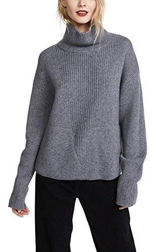 VIGVOG Big Girls Fashion Turtleneck Sweater Teenager Girl Long Sleeve Ribbed Knit Pullover Tops with Pockets 13-21Years