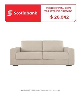 Sillon Sofa 3 Cuerpos Cuero Natural Sillones Divino