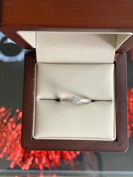 Anillo De Compromiso Diamante Certificado Gia .27ct F I2