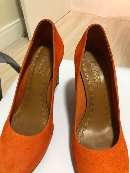 Sapato Scarpin Arezzo Laranja Verão