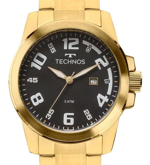 Relógio Technos Masculino Racer 2115mgs/4p Dourado Original C/ Nfe