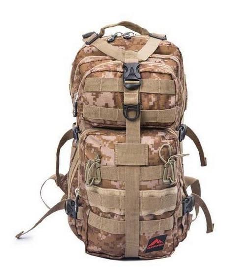 Mochila Tática Militar Camuflada 25l Trilhas E Rumos + Nf-e