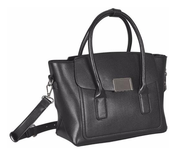Tote Bag Color Negro Para Dama