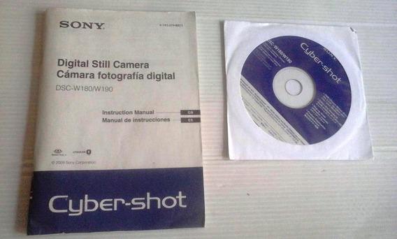 Manual/software Da Câmera Digital Sony Dsc-w180/w190 (gb/es)