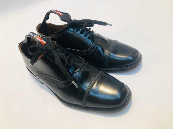 Zapatos Hombre Talle 40 Cuero Vacuno Excelente Cambio Tapita