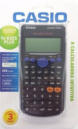 Calculadora Casio Científica Fx-82es Plus 252 Funções -preto