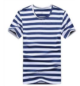 Camiseta Slim Listrada Stecchi Original Unissex