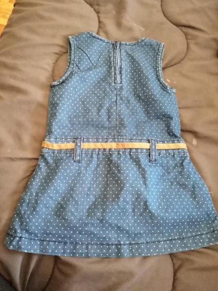 Vestido Para Niña Tipo Blue Jeans, Marca Tricky Tracks