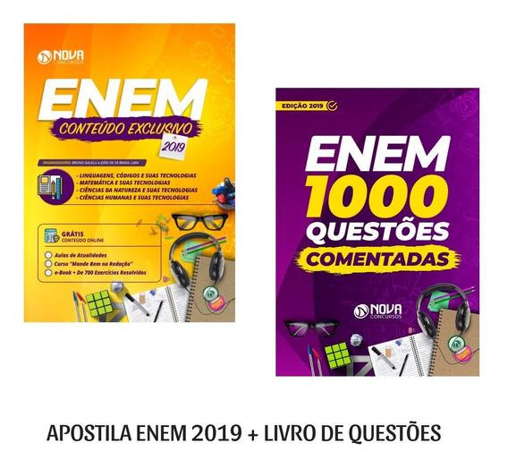 Apostila Enem 2019 + Livro De Questões