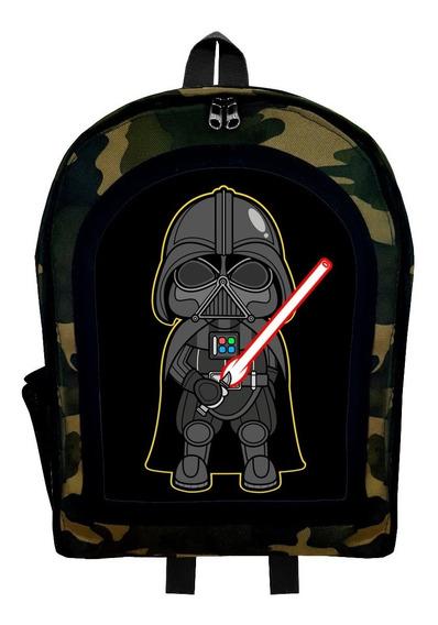 Mochila Infantil Camuflada Star Wars Mini Dark Vader Givan