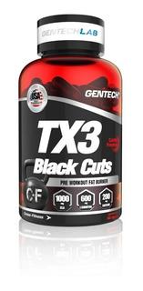 Tx3 Black Cuts 60 Cap Gentech Quemador De Grasas Carnitina