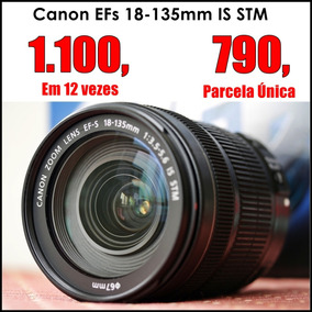 R$ 790, Canon Efs 18-135 Is Stm | 70d, 80d, T6s, T6i, T5i