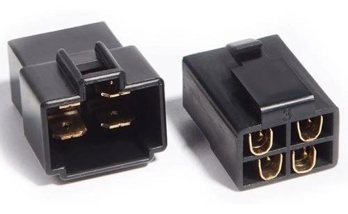 Conector Preto 4 Vias Sem Terminais (macho/femea)
