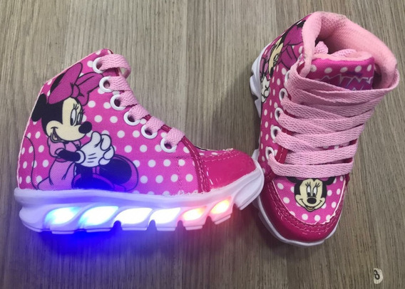 Botinha Infantil Led Minne Mouse