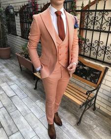 Terno Masculino Laranja Slim Fit Estilo Italiano Tb32-ar3