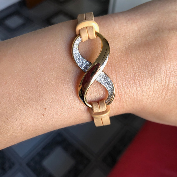 Pulseira Swarovski Simbolo Infinito-coleção Exist Rose Gold