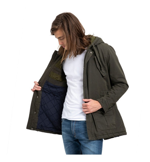 Campera Hombre Rusty Manchester Verde