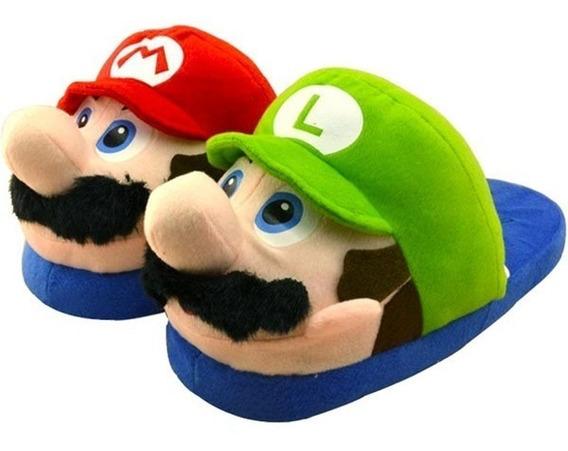 Pantufa Super Mario Bros E Luigi Nintendo Pronta Entrega
