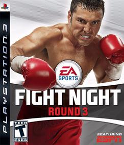 Jogo Fight Night Round 3 Ps3 Mídia Física Boxe Frete Grátis