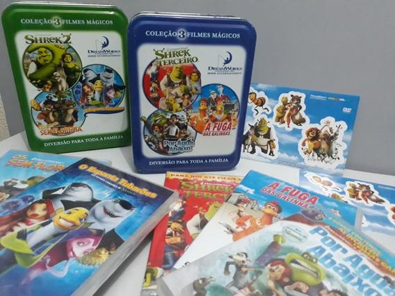 2 Box Dvds Coleção Filmes Mágicos Edição Colecionador Lata