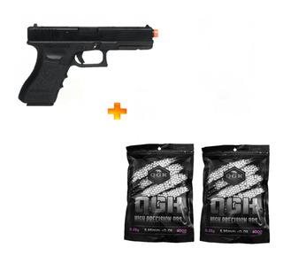 Pistola De Airsoft Gbb G18c Blowback 6mm + 8000 Bb