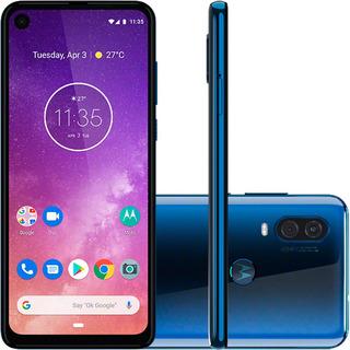 Motorola One Vision 128gb Tela 6,3 - Azul - Usado