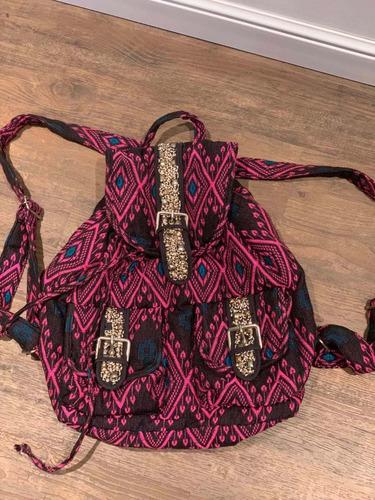 Mochila Azteca Hindu Urban Outfitters Mostacillas Tachas