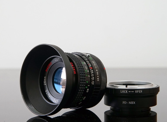 Lente 28mm Cpc Macro(panagor) + Adaptador Novo Sony E\nex