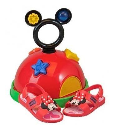 Sandália Infantil Casa Do Mickey E Minnie