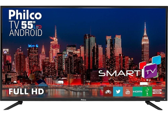Smart Tv Led 55 Fullhd Philco Hdmi Usb Netflix Android C.dg